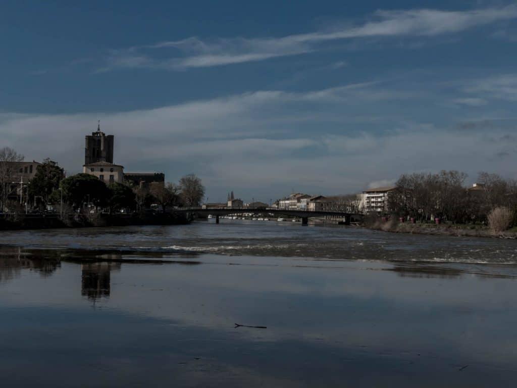 Agde vue depuis l'Hérault