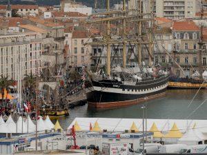 le Krusenstern dans le port de Sète
