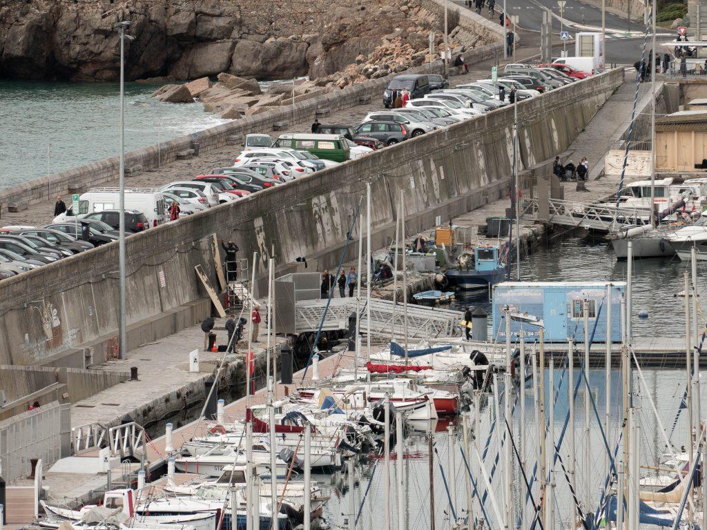 oeuvres de Klaus Dauven dans le port de Sète