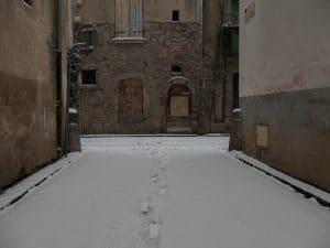 Agde sous la neige