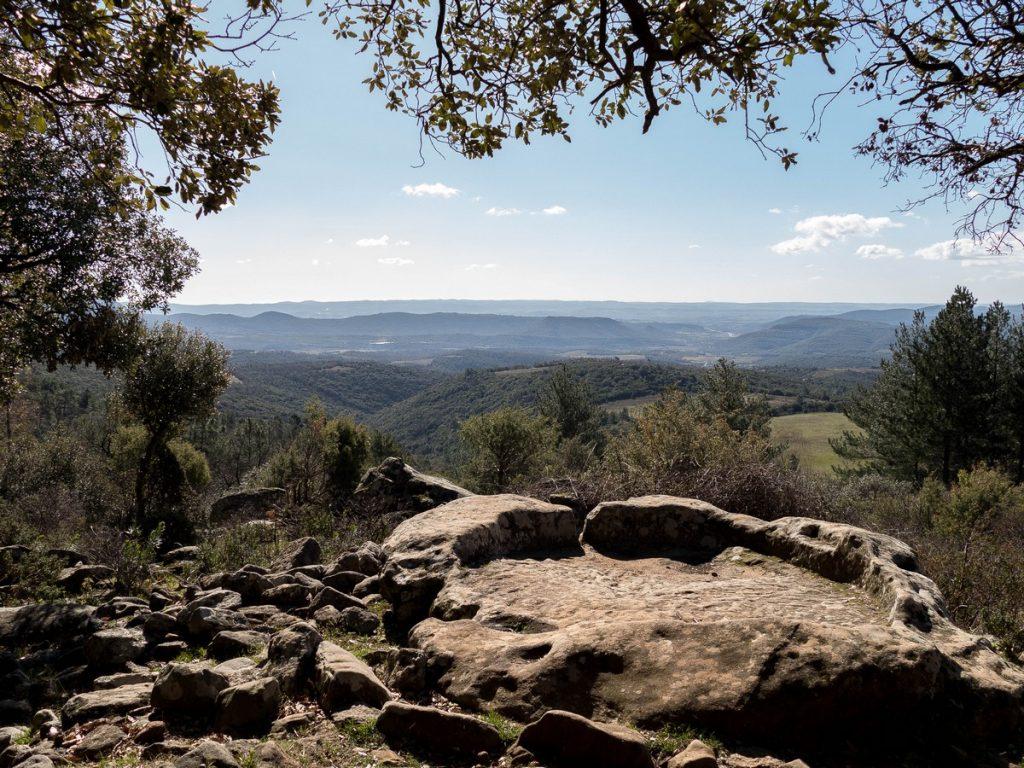 panorama depuis le parc du prieuré de grandmont dans l'Hérault