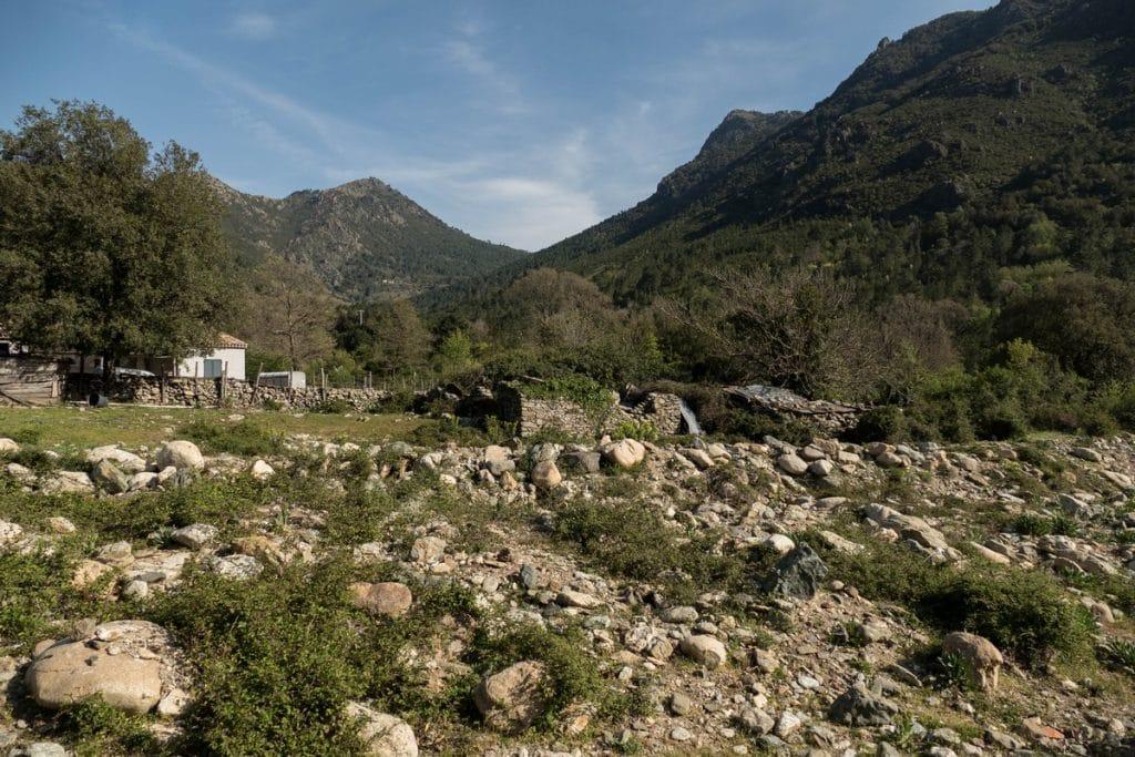 dans le hameau de Sampolo- Ghisoni