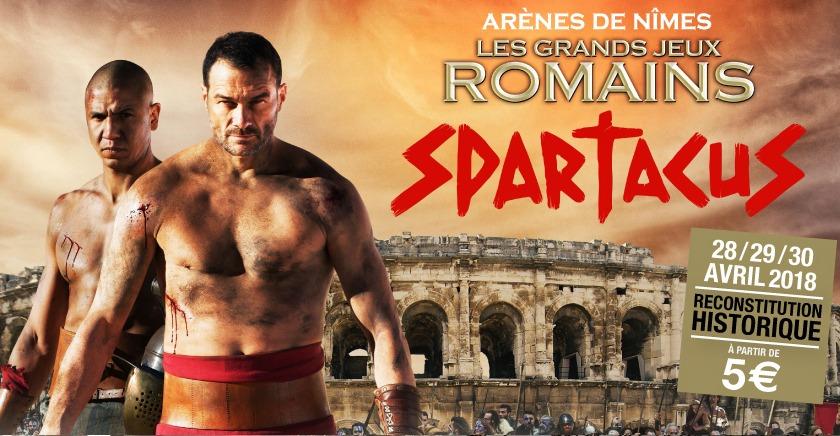 affiche de Spartacus - Grands Jeux romains de Nîmes
