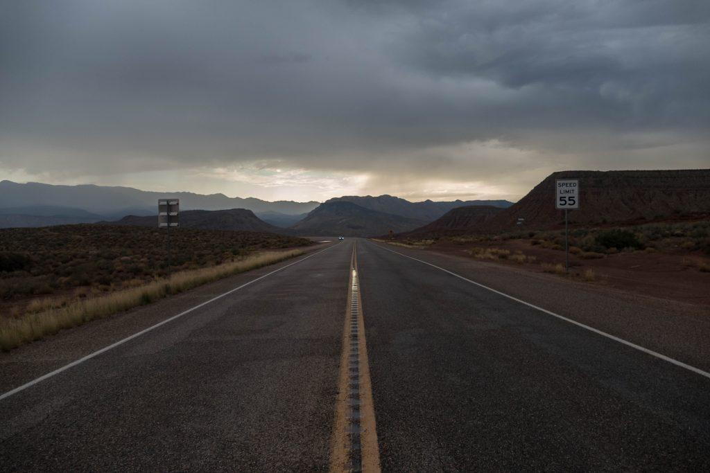 sur la route d'Hurricane - Utah