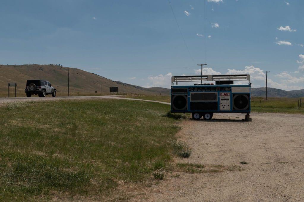 poste de radio géant - Montana