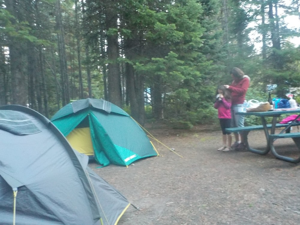 camping à colter bay - grand téton