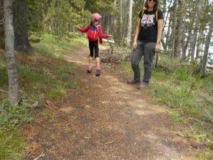 en famille dans le Yellowstone