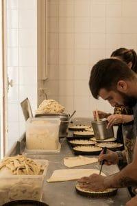 fabrication de tielles, Sète