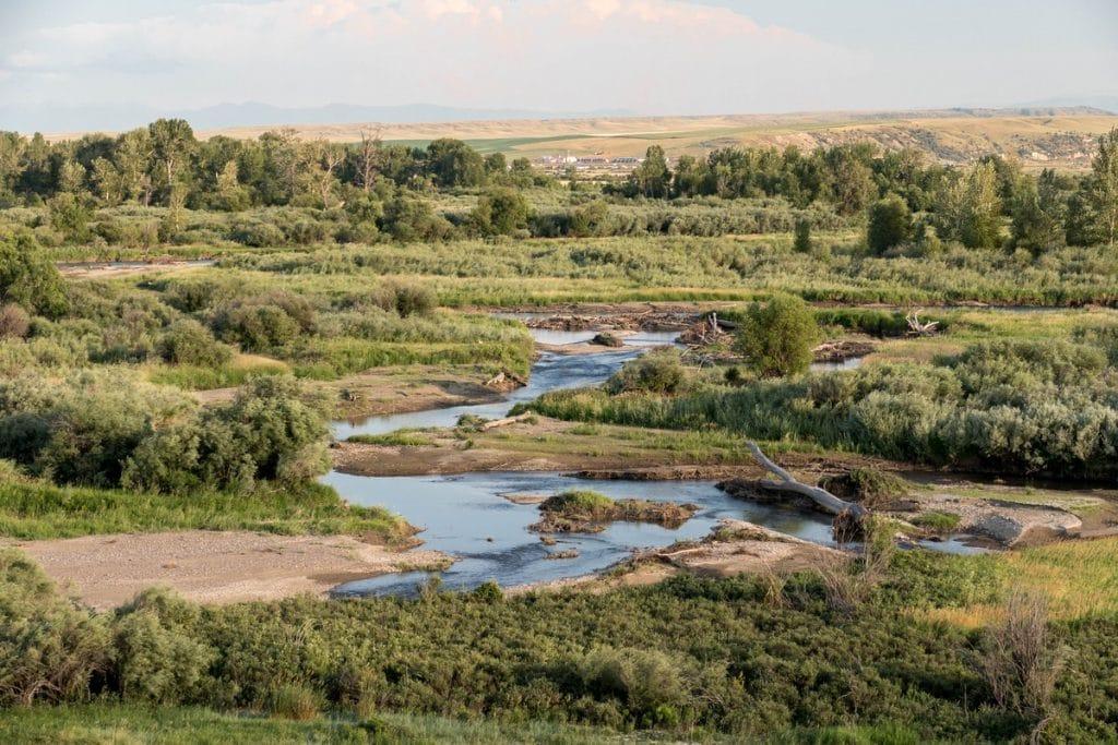 Gallatin river - three forks / Montana