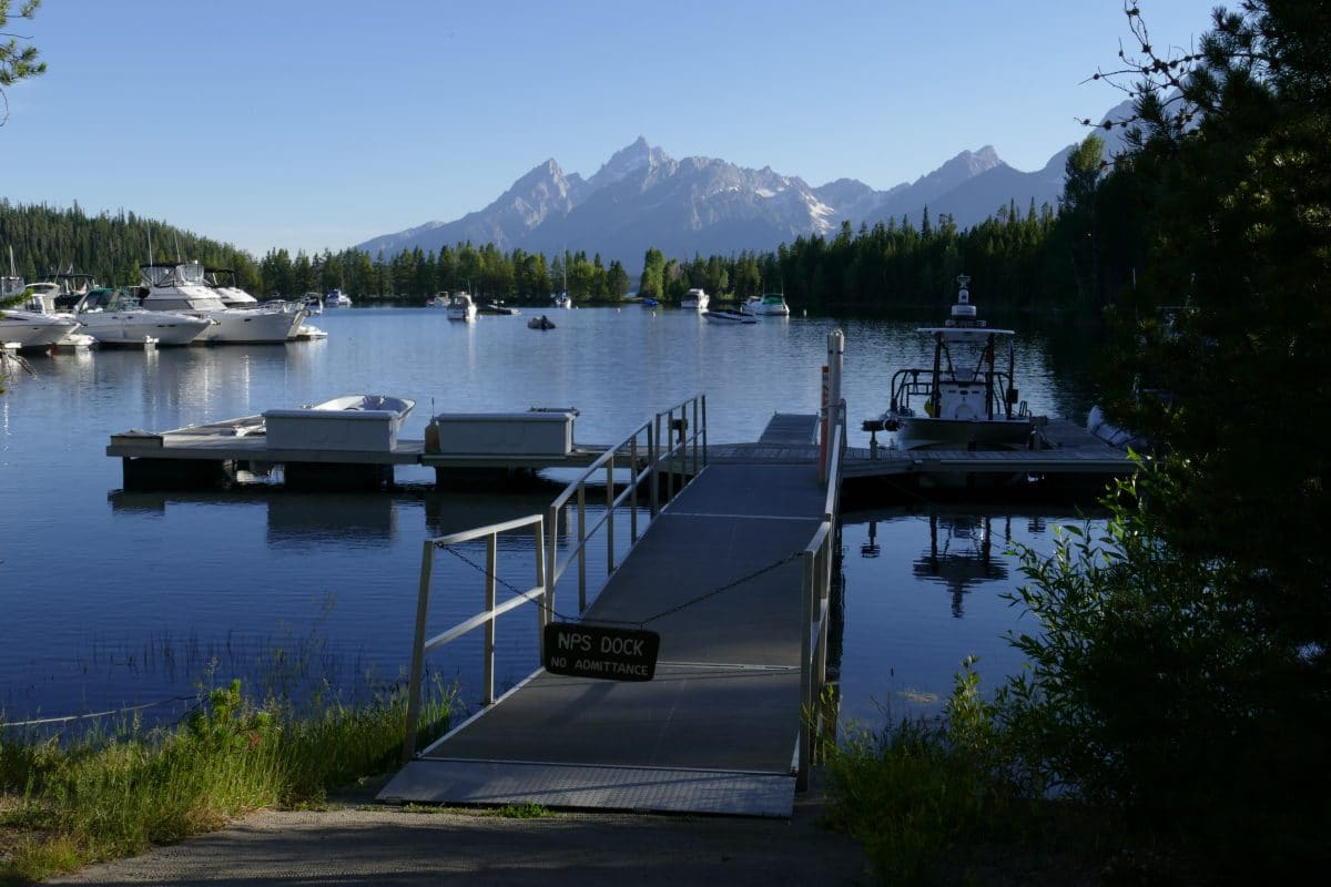 Marina de colter bay, Grand téton