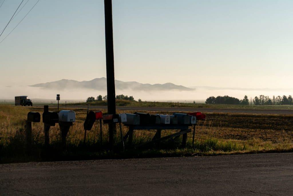 lever du soleil à Three Forks