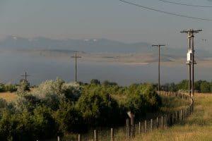 lever du soleil à three forks, Montana