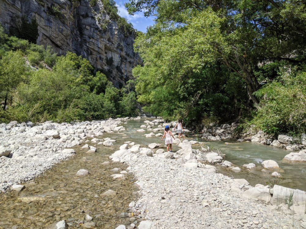 l'Eygues dans la drôme provençale